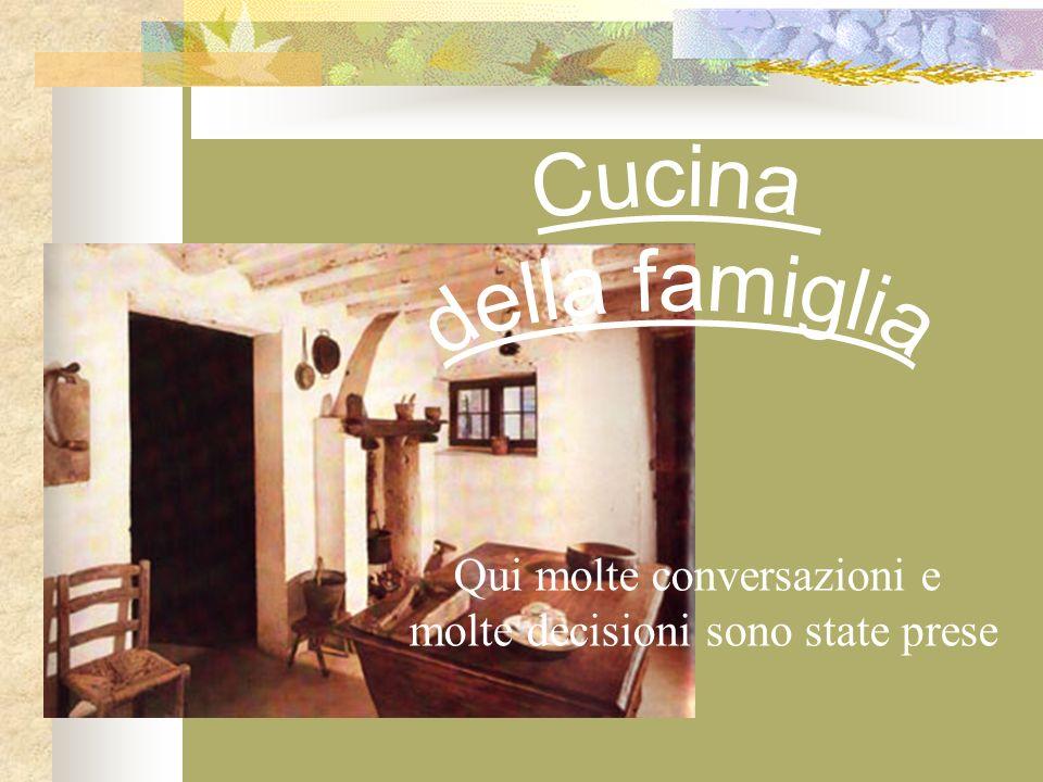 Cucina della famiglia Qui molte conversazioni e