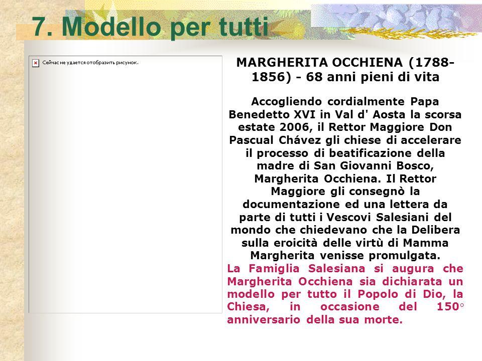 MARGHERITA OCCHIENA (1788-1856) - 68 anni pieni di vita