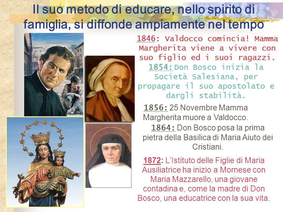 1856: 25 Novembre Mamma Margherita muore a Valdocco.