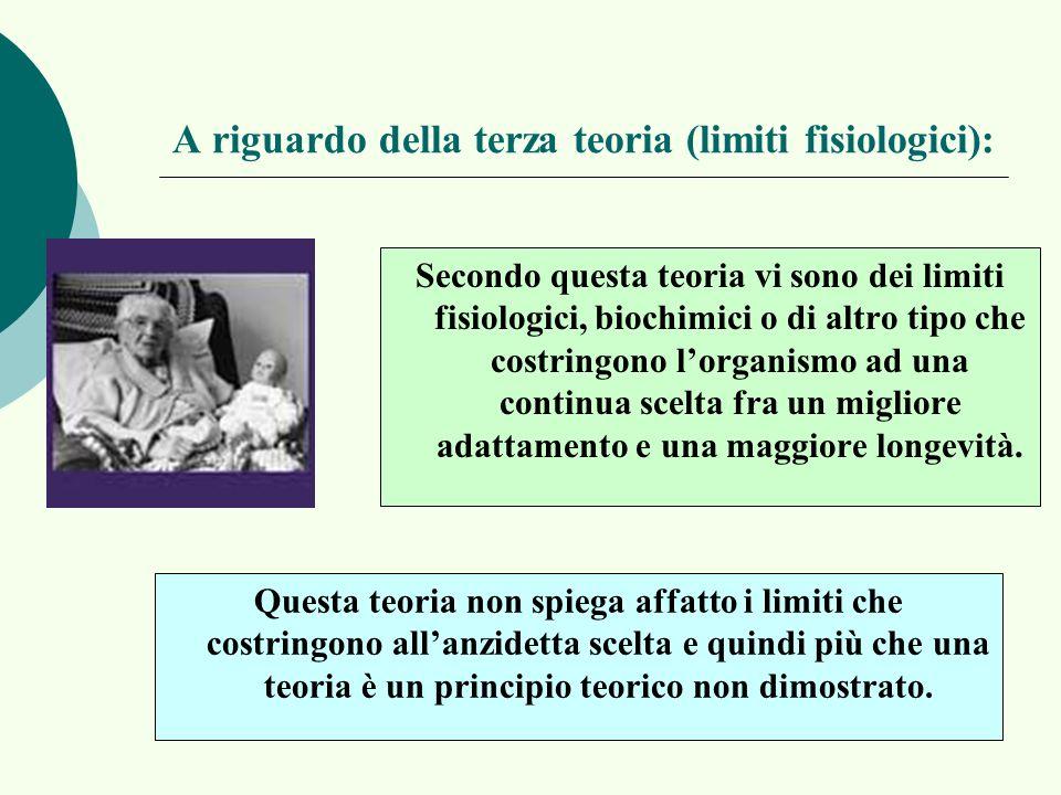 A riguardo della terza teoria (limiti fisiologici):