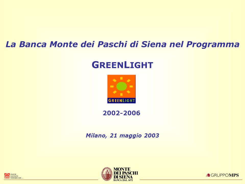 La Banca Monte dei Paschi di Siena nel Programma GREENLIGHT