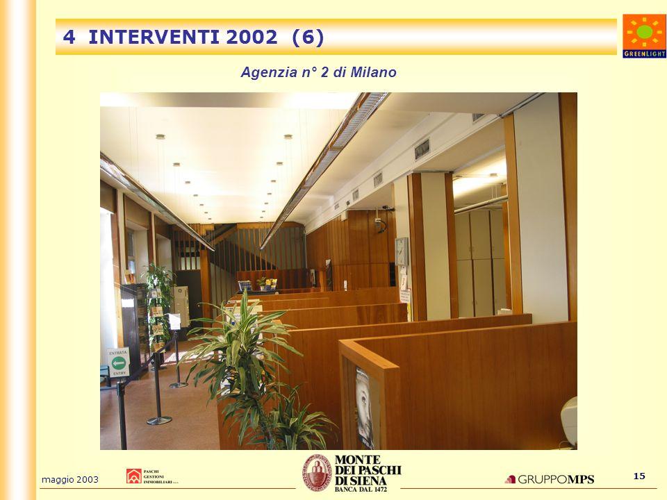 4 INTERVENTI 2002 (6) Agenzia n° 2 di Milano