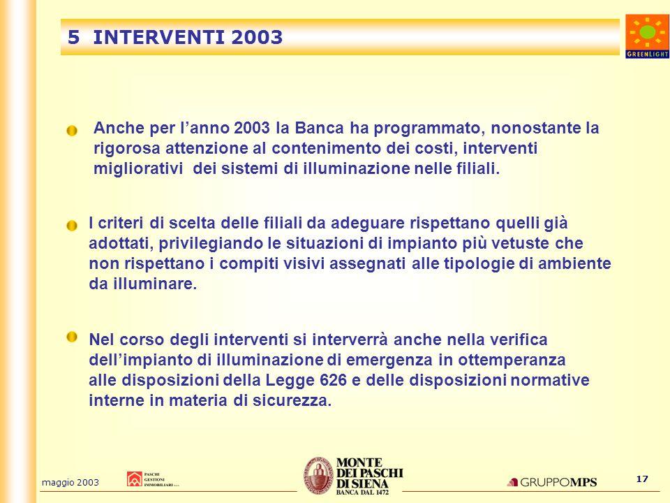 5 INTERVENTI 2003