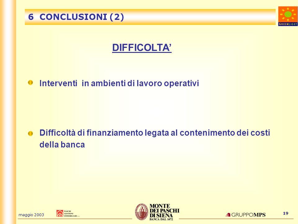 DIFFICOLTA' 6 CONCLUSIONI (2)