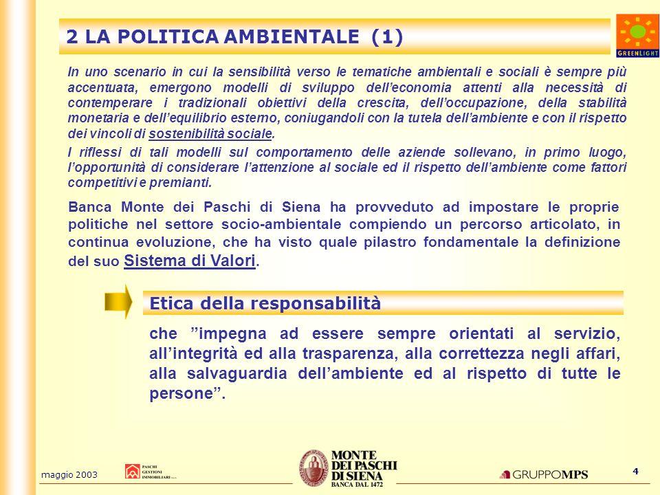 2 LA POLITICA AMBIENTALE (1)