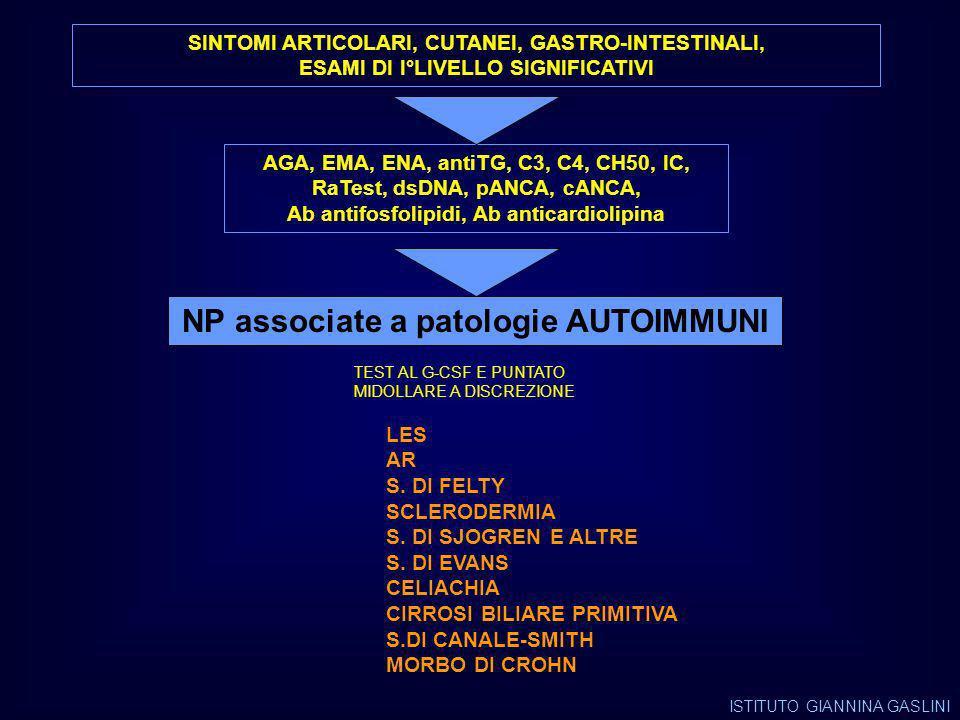 NP associate a patologie AUTOIMMUNI