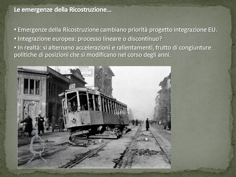 Le emergenze della Ricostruzione…