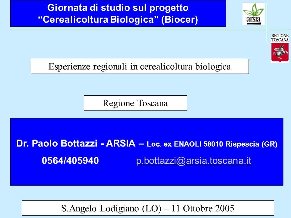 Giornata di studio sul progetto Cerealicoltura Biologica (Biocer)