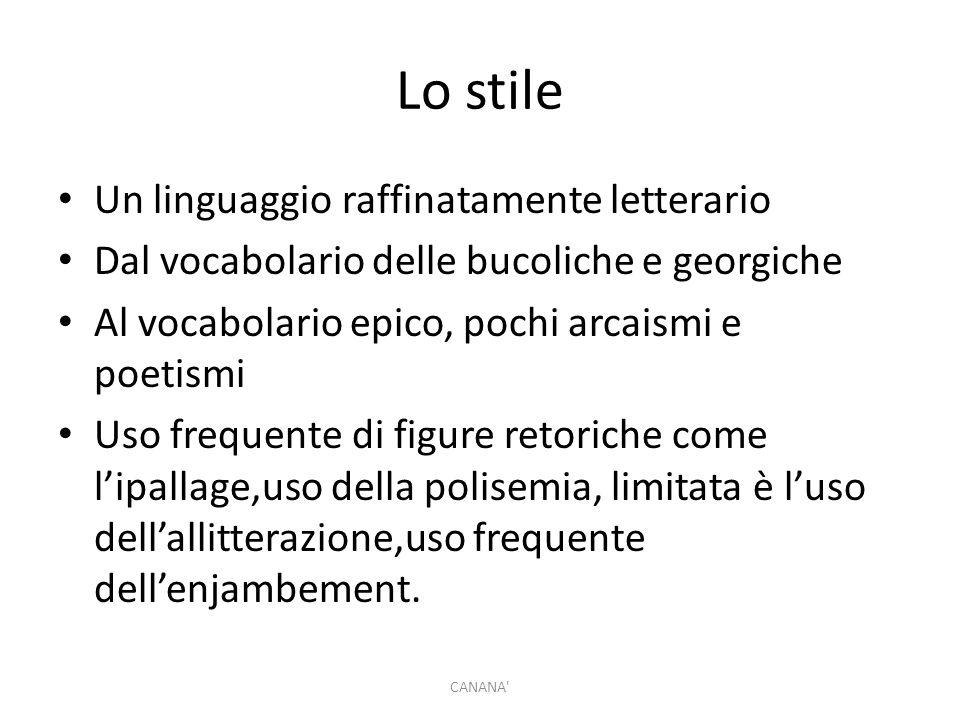 Lo stile Un linguaggio raffinatamente letterario