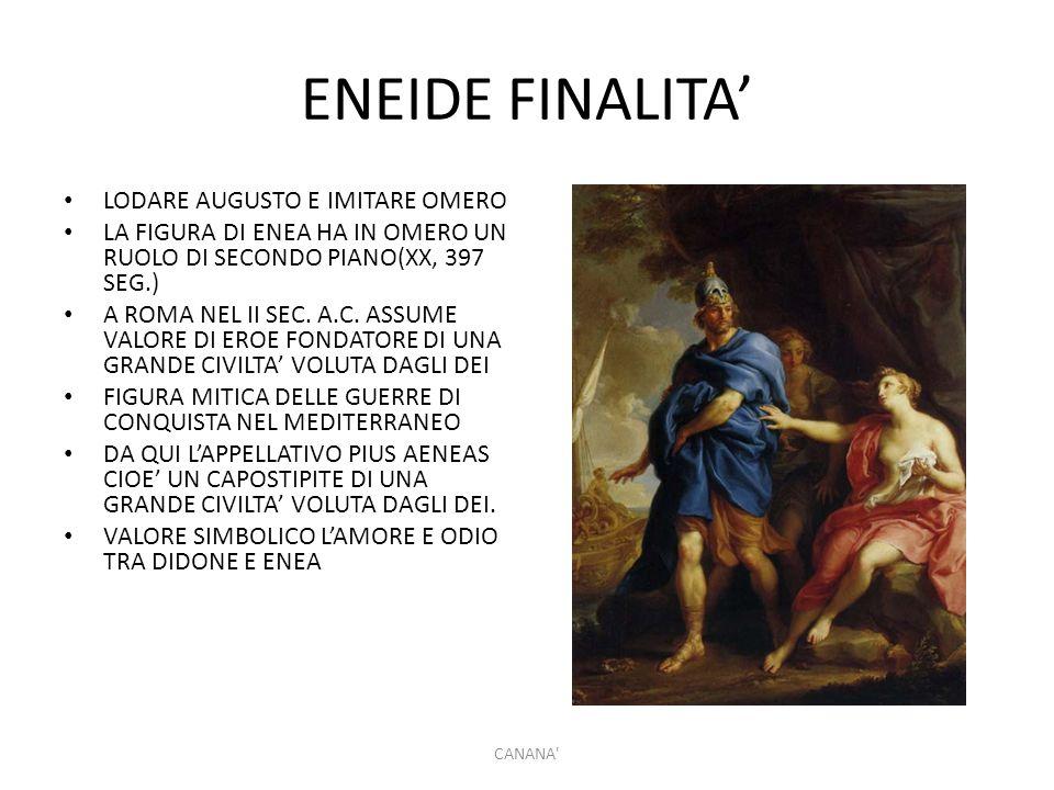 ENEIDE FINALITA' LODARE AUGUSTO E IMITARE OMERO