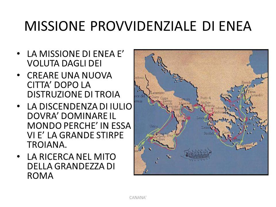 MISSIONE PROVVIDENZIALE DI ENEA
