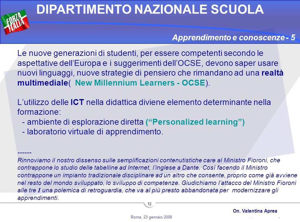 Apprendimento e conoscenze - 5