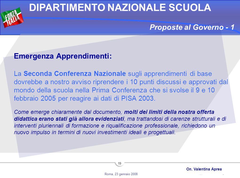 Proposte al Governo - 1