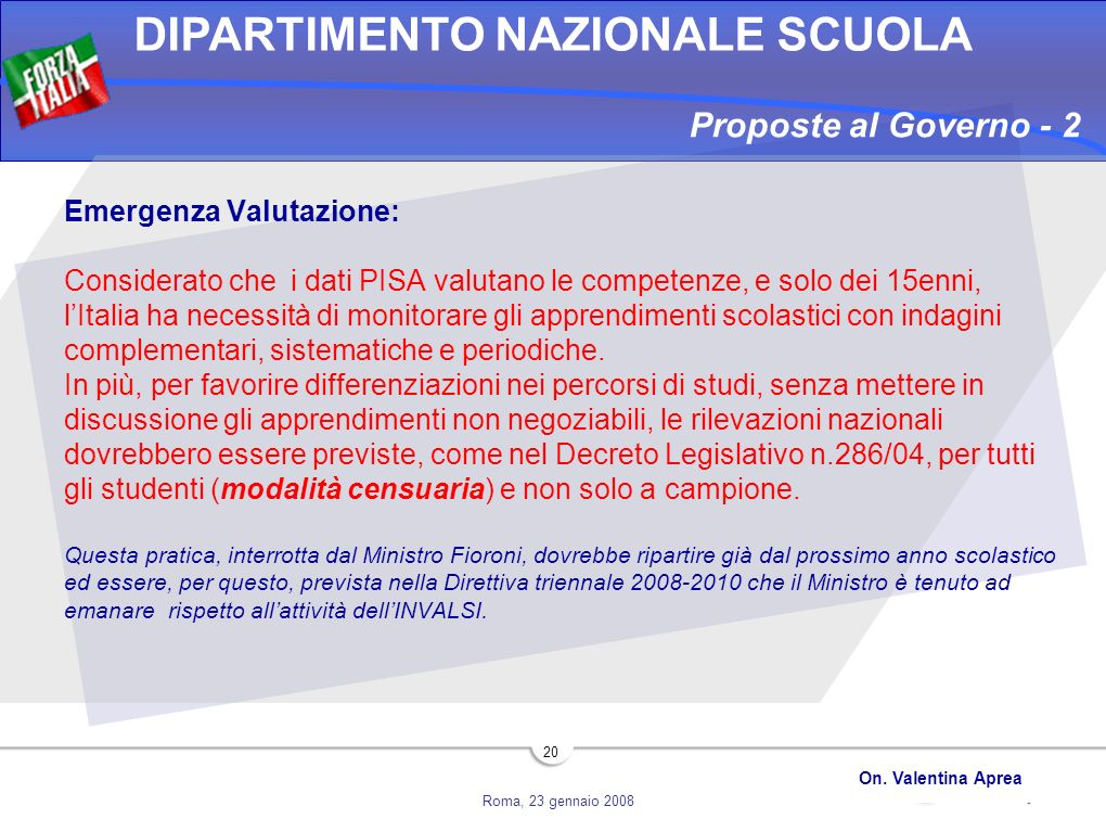 Proposte al Governo - 2