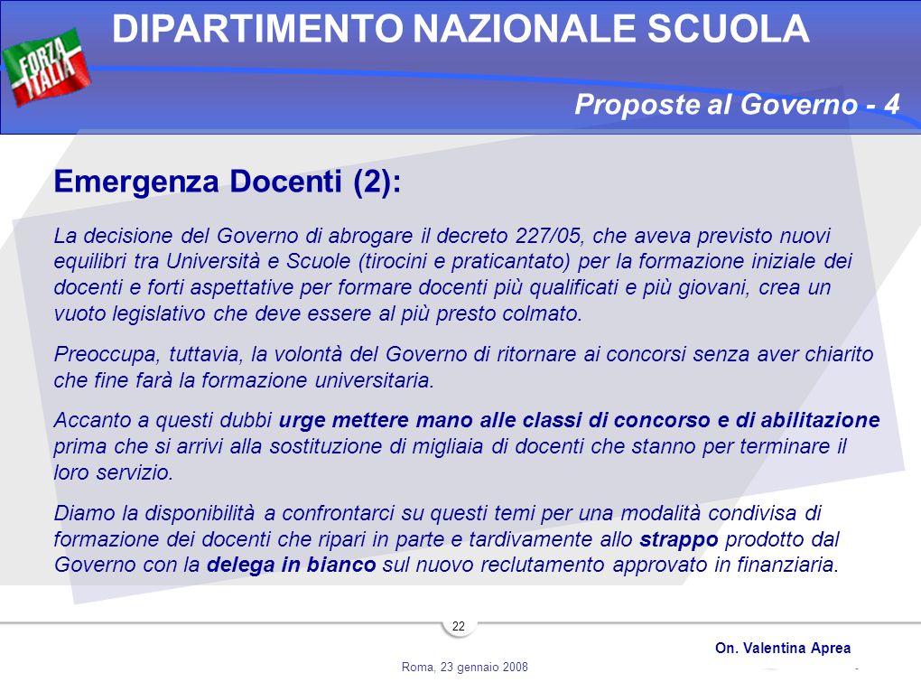 Proposte al Governo - 4