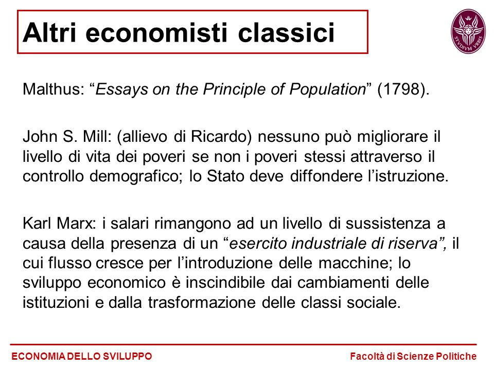 Altri economisti classici