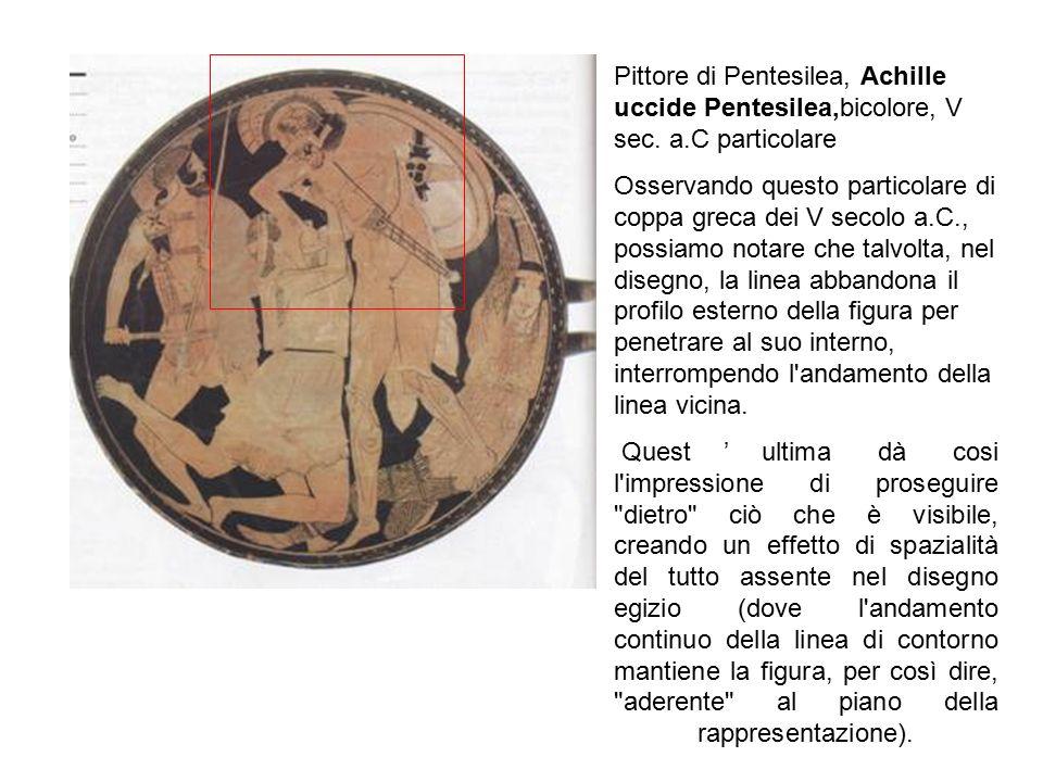 Pittore di Pentesilea, Achille uccide Pentesilea,bicolore, V sec. a