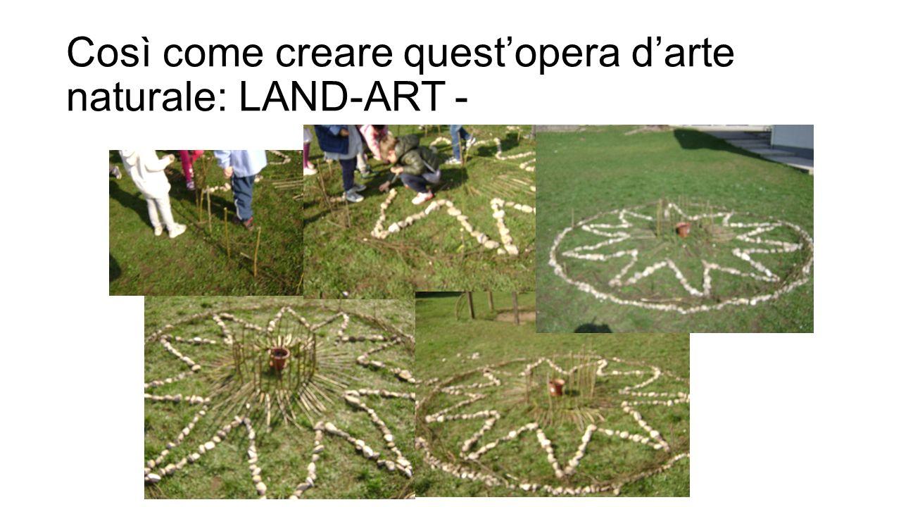 Così come creare quest'opera d'arte naturale: LAND-ART -