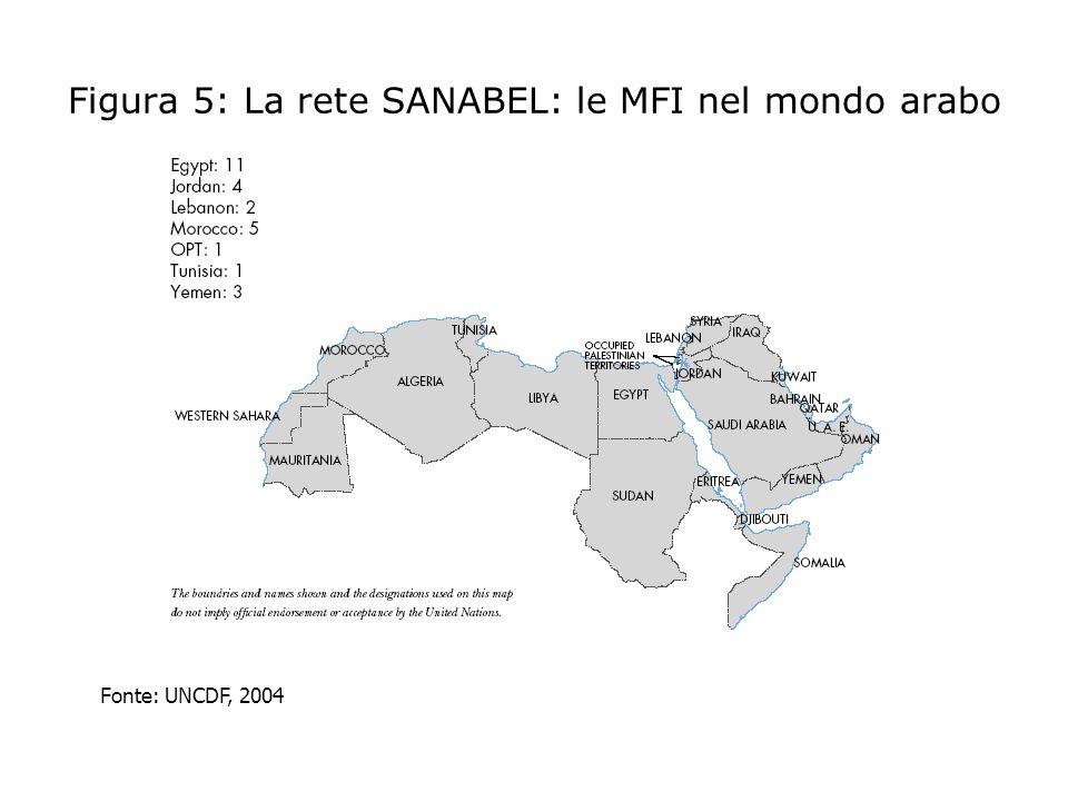 Figura 5: La rete SANABEL: le MFI nel mondo arabo