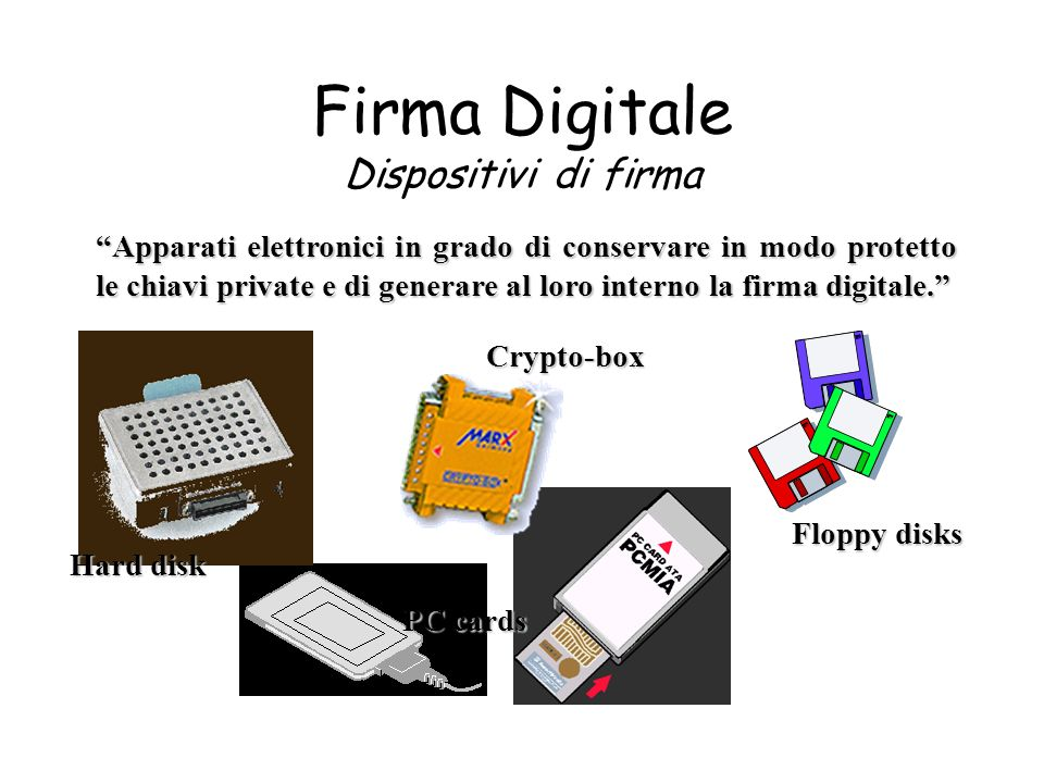 Firma Digitale Dispositivi di firma