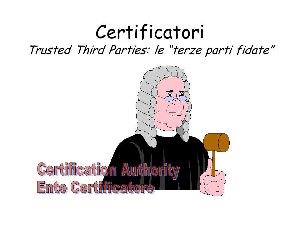Certificatori Trusted Third Parties: le terze parti fidate