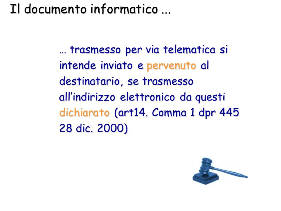 Il documento informatico ...