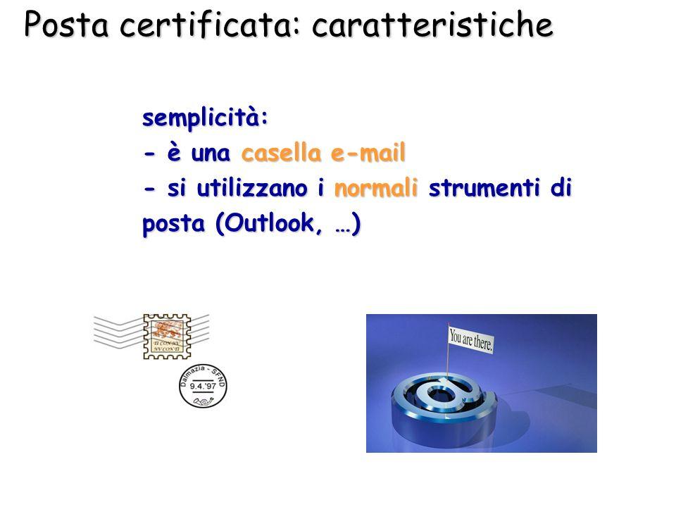 Posta certificata: caratteristiche
