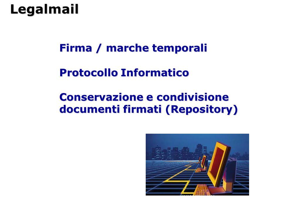 Legalmail Firma / marche temporali Protocollo Informatico