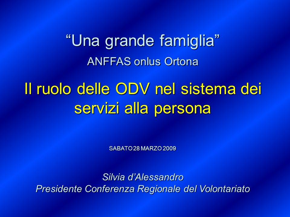 Il ruolo delle ODV nel sistema dei servizi alla persona