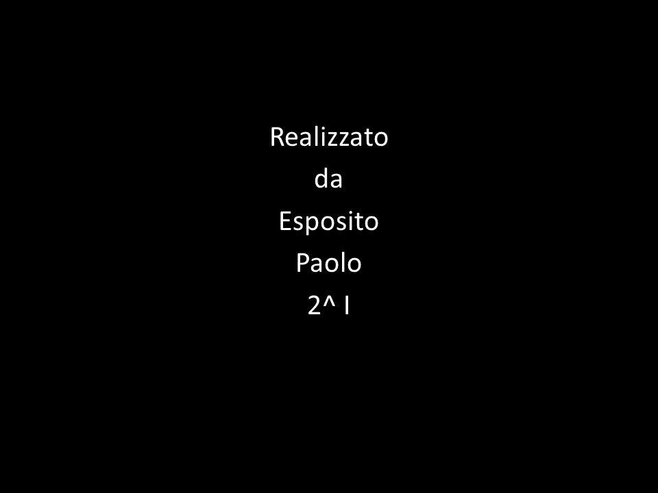 Realizzato da Esposito Paolo 2^ I