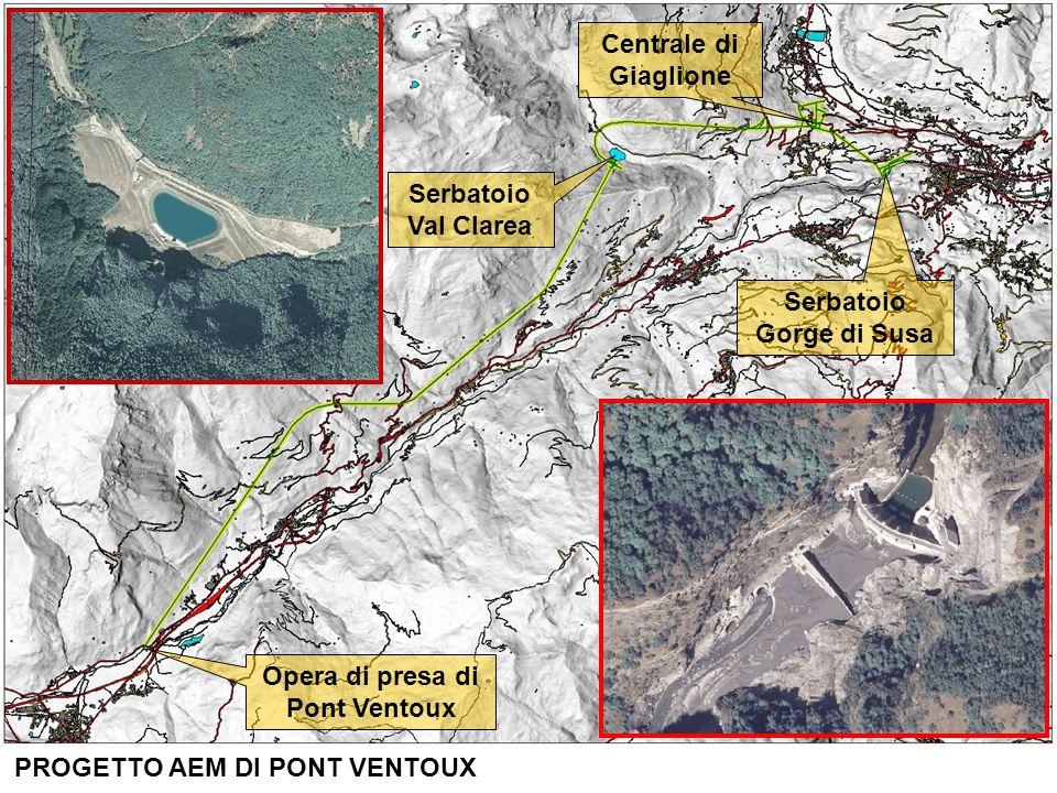 Serbatoio Val Clarea. Opera di presa di. Pont Ventoux.