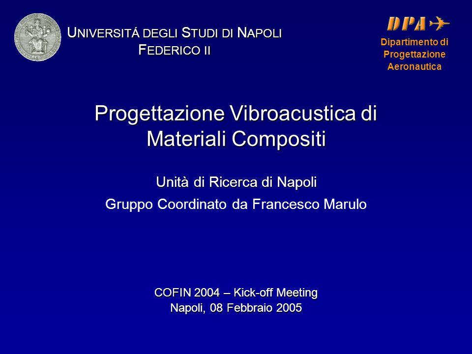 Progettazione Vibroacustica di Materiali Compositi Unità di Ricerca di Napoli