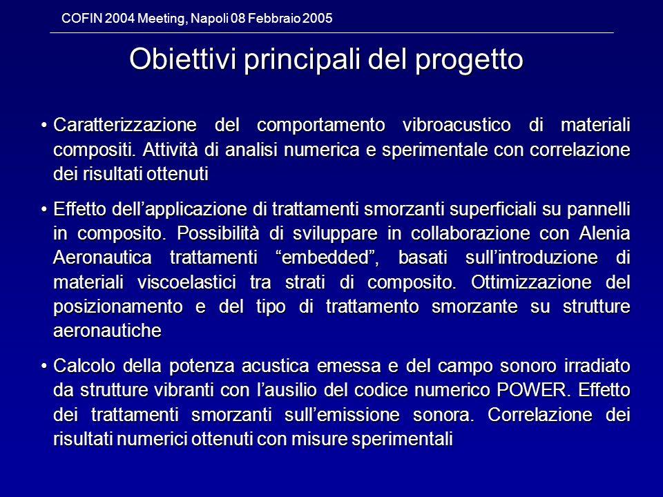 Obiettivi principali del progetto
