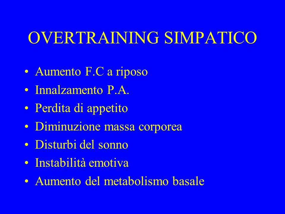 OVERTRAINING SIMPATICO
