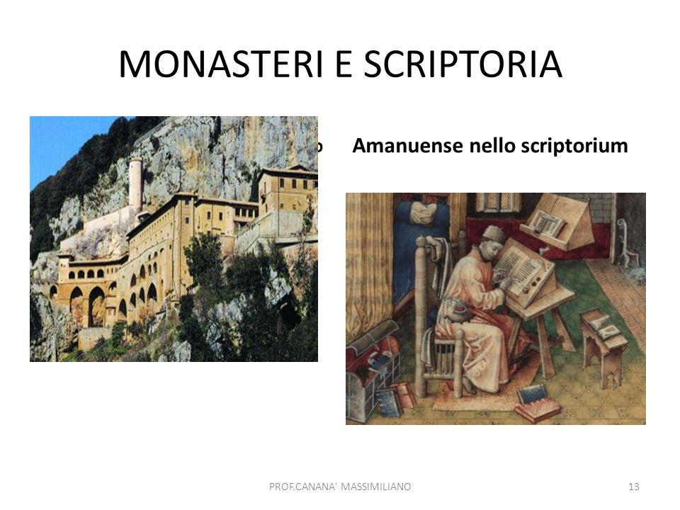 MONASTERI E SCRIPTORIA