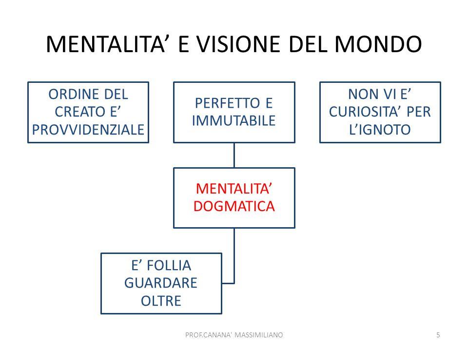 MENTALITA' E VISIONE DEL MONDO