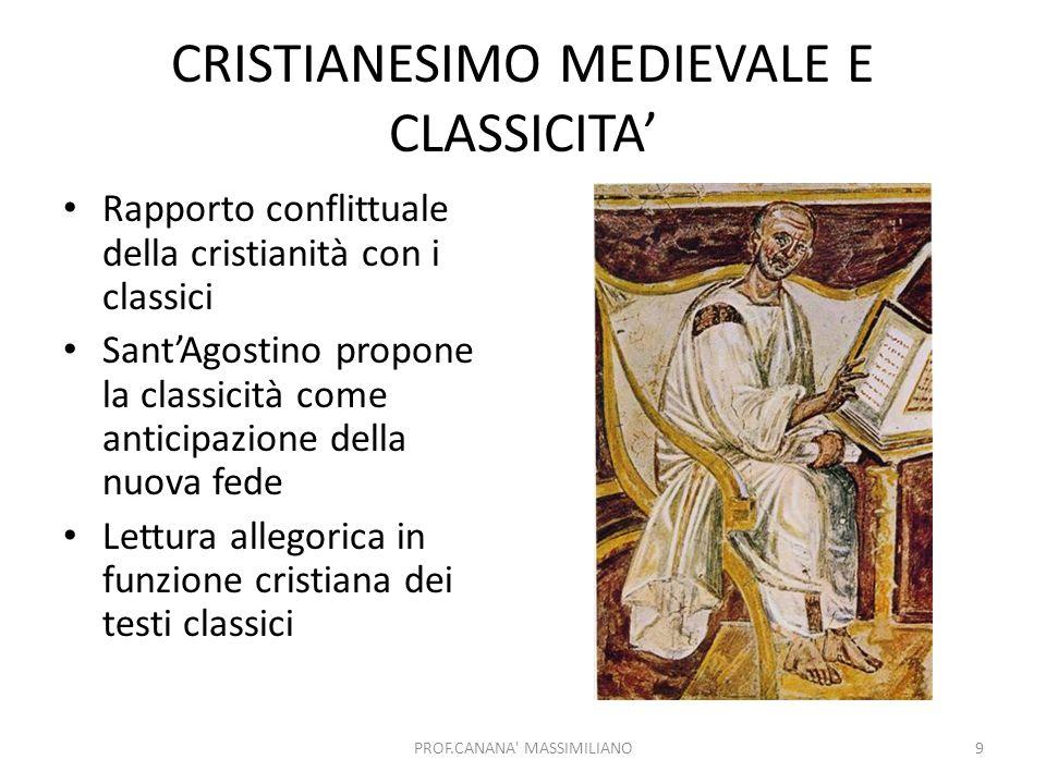 CRISTIANESIMO MEDIEVALE E CLASSICITA'