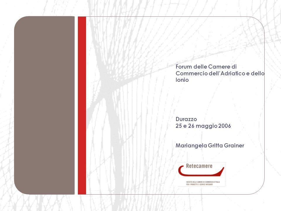 Forum delle Camere di Commercio dell'Adriatico e dello Ionio Durazzo