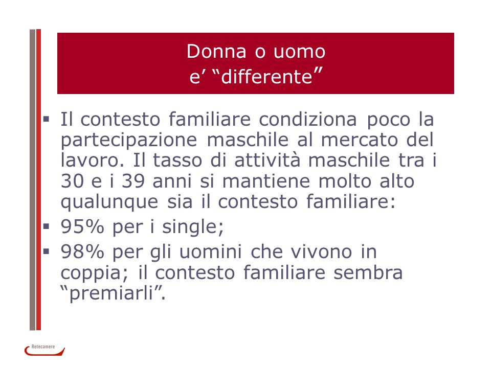 Donna o uomo e' differente