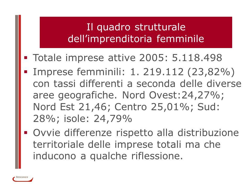 Il quadro strutturale dell'imprenditoria femminile