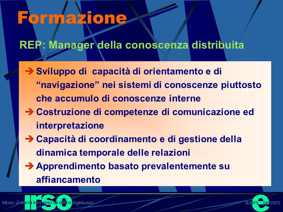 Formazione REP: Manager della conoscenza distribuita