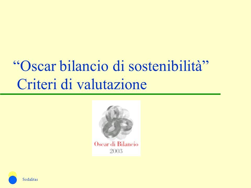 Oscar bilancio di sostenibilità Criteri di valutazione