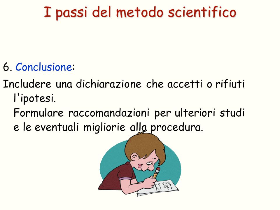 I passi del metodo scientifico