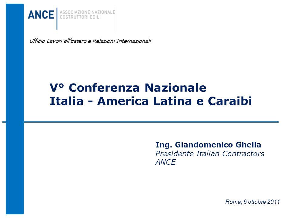 V° Conferenza Nazionale Italia - America Latina e Caraibi