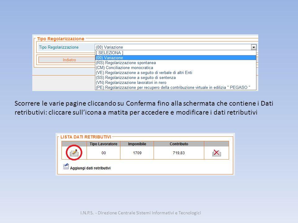 I.N.P.S. - Direzione Centrale Sistemi Informativi e Tecnologici