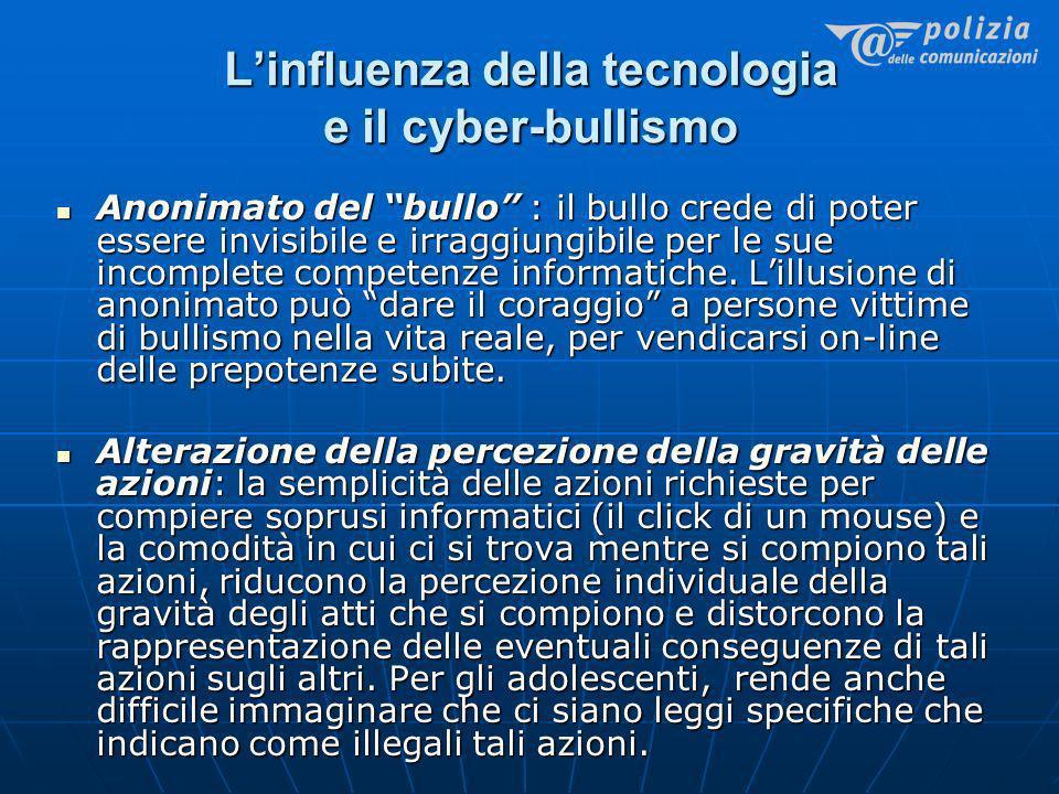 L'influenza della tecnologia e il cyber-bullismo