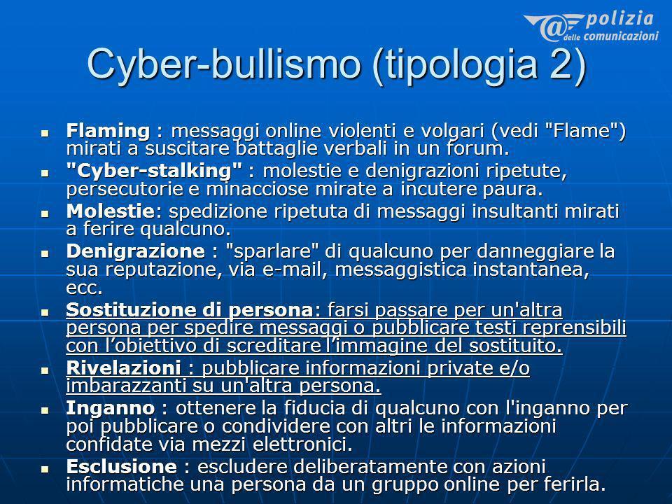 Cyber-bullismo (tipologia 2)