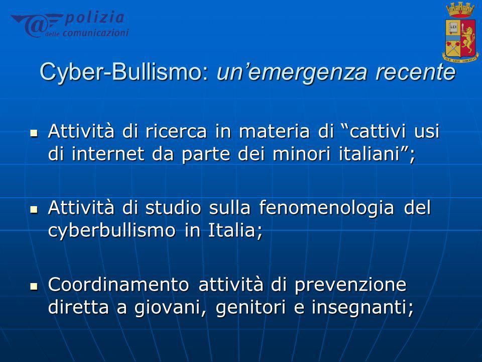 Cyber-Bullismo: un'emergenza recente