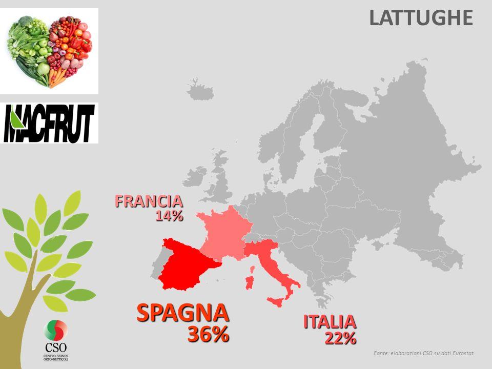 SPAGNA LATTUGHE ITALIA FRANCIA 22% 14% 36%