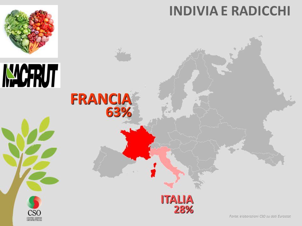 FRANCIA INDIVIA E RADICCHI ITALIA 28% 63%